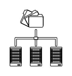 Figure shared archived folders data center vector