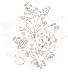 floral design grassy ornament vector image vector image