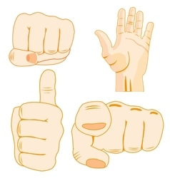 Gestures by hand of the person vector image vector image