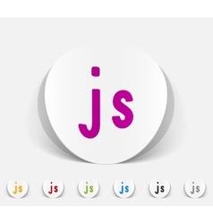 Realistic design element js vector