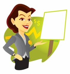 sales woman vector image vector image