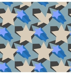 Star pattern seamless vector image vector image