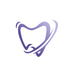 tooth dentist abstract logo vector image