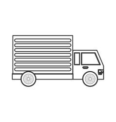 delivery cargo truck icon vector image vector image