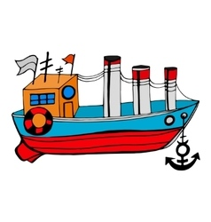 Old boat vector image