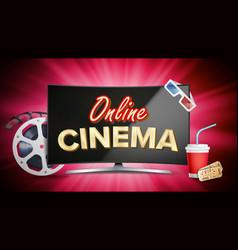 online cinema poster modern computer vector image vector image