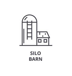 silo barn line icon outline sign linear symbol vector image