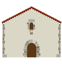 Spanish house vector image