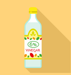 6 percent vinegar icon flat style vector