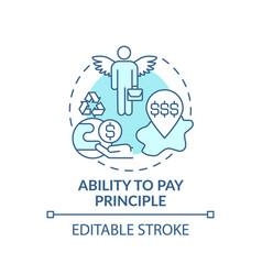 Ability to pay principle concept icon vector