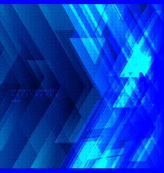Abstract blue tech diagonal geometric background vector