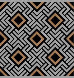 Abstract geometric pattern with rhombus and lines vector