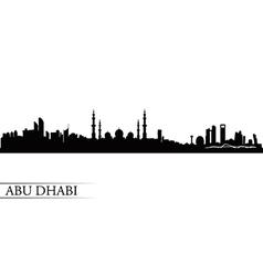 Abu dhabi city skyline silhouette background vector