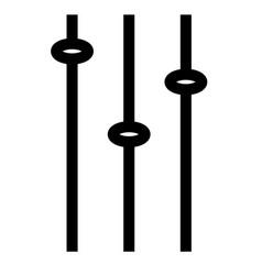 adjustments change configuration control icon vector image