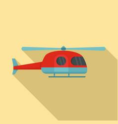 ambulance helicopter icon flat style vector image