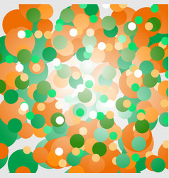 Background of orange and green circles vector