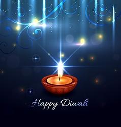 Beautiful artistic background of diwali vector