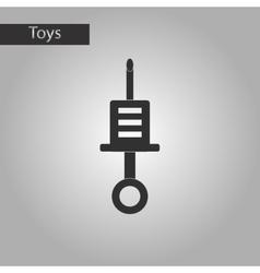 black and white style toy syringe vector image