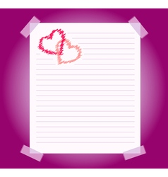 blank notepad sheet of paper vector image