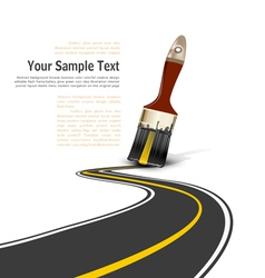 Brush paved road vector