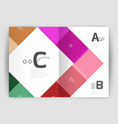 business a4 business brochure geometrical template vector image vector image