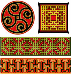 Chinese graphic elements vector
