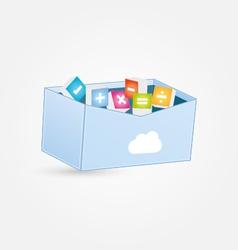Cloud maths box vector