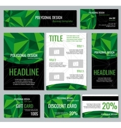 Corporate identity template with green vector