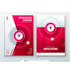 Cover set red template for brochure banner vector