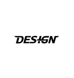 creative letter design text symbol design logo vector image