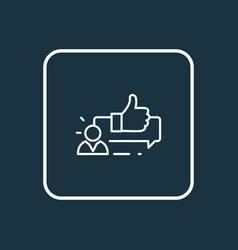customer testimonials icon line symbol premium vector image