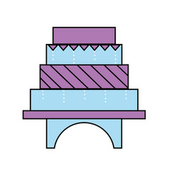 Delicious and sweet cake to celebrate design vector