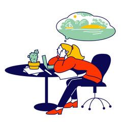 Emotional burnout concept hard work business vector