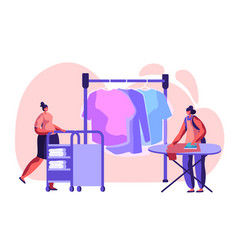 female characters employees professional cleaning vector image