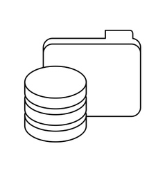 Figure data center related icon image vector