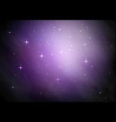 galaxy starry sky background vector image