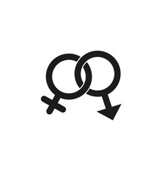 gender icon in trendy flat style isolated on white vector image