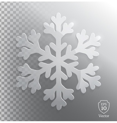 Glass transparent snowflake vector image