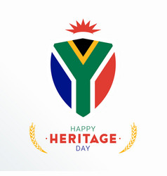 happy heritage day - 24 september - square vector image