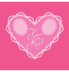 hearts lace 4 380 vector image