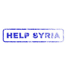 help syria rubber stamp vector image