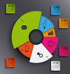 Info graphic with abstract round graph template vector image