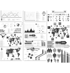 INFOGRAPHIC GRAY vector image