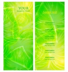 invitation leaf background vector image
