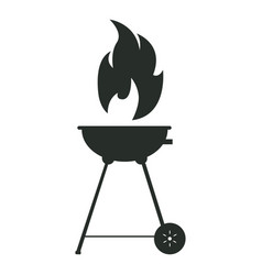 isolated silhouette of a grill vector image