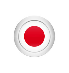 japanese flag on the round button vector image