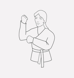 Karate icon line element of vector
