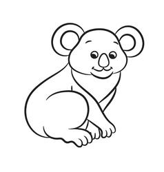 Koala black and white vector