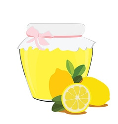 Lemon jam vector image