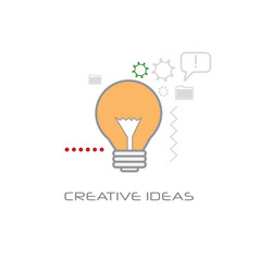 light lamp new idea startup project innovation vector image